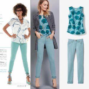 CAbi Tidal Skinny Jeans; Size 4; EUC